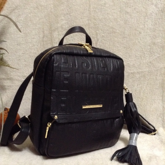 2f3ecb094ec1 Steve Madden Embossed Logo Backpack in Black